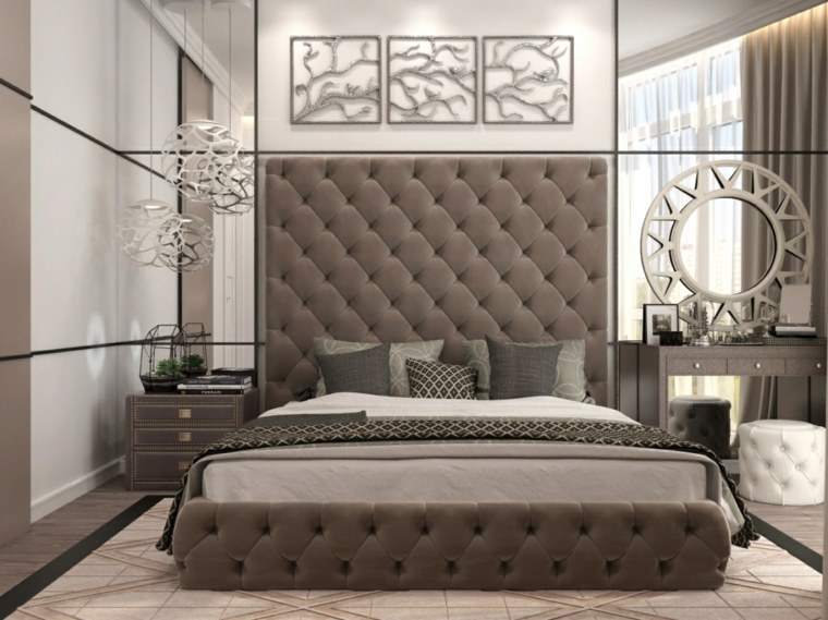 Detalles y mas opciones para decorar el dormitorio moderno for Espejo pared dormitorio
