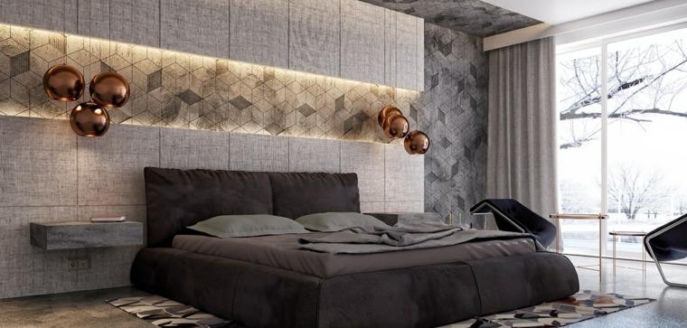 detalles y mas opciones dormitorio moderno lamparas oro ideas