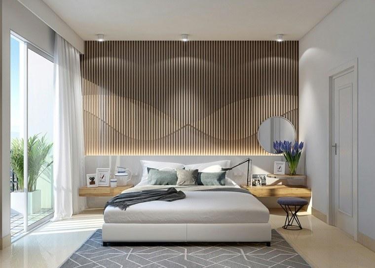 detalles y mas opciones dormitorio moderno mesitas noche madera ideas