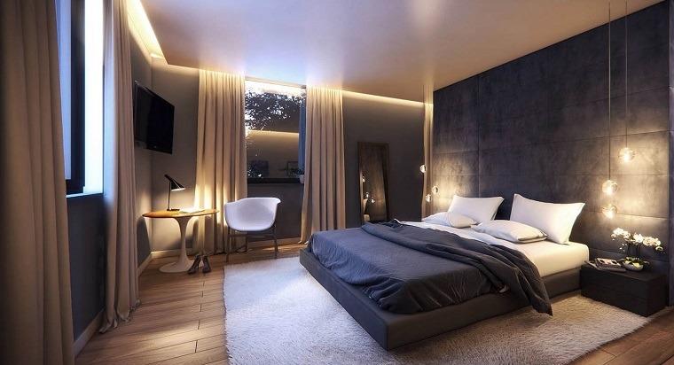 detalles y mas opciones dormitorio moderno pared negra ideas