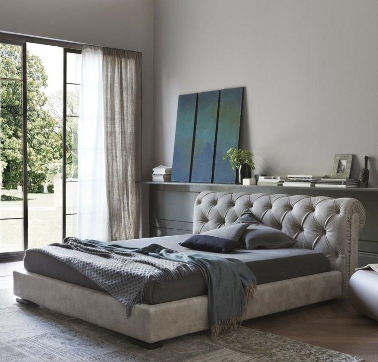 detalles y mas opciones dormitorio moderno respaldo cama gris ideas