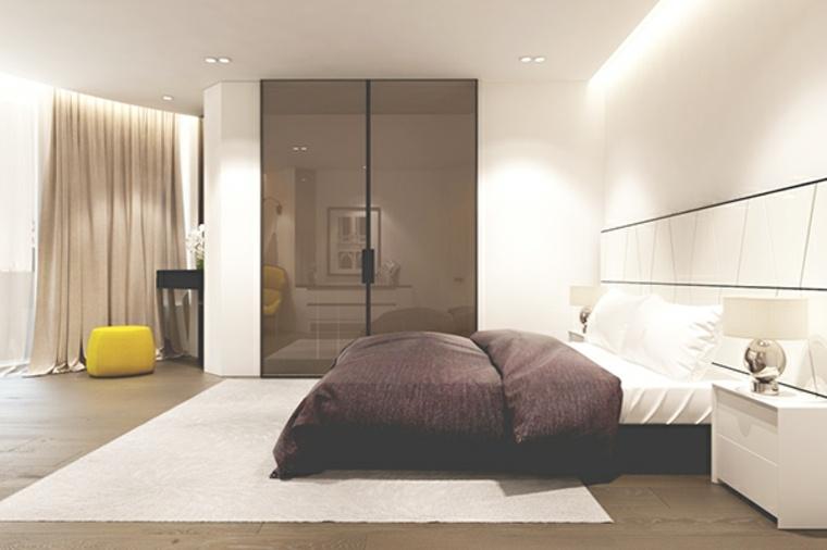 detalles opciones dormitorio moderno taburete amarillo ideas