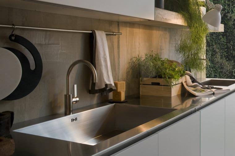 Encimeras de cocina de materiales innovadores - 50 modelos -