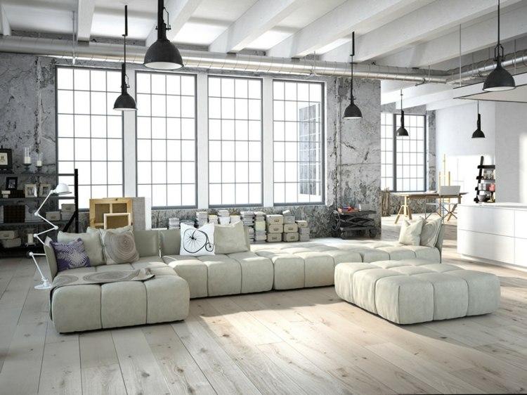 diseño estilo moderno industrial interior
