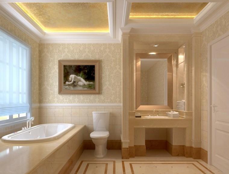 diseño cuarto baño lujoso minimalista