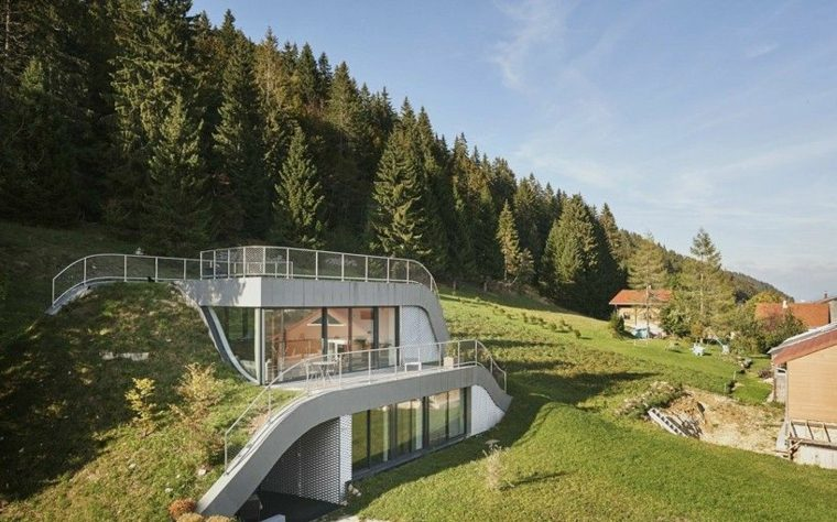 diseño casa Francia modernas azoteas