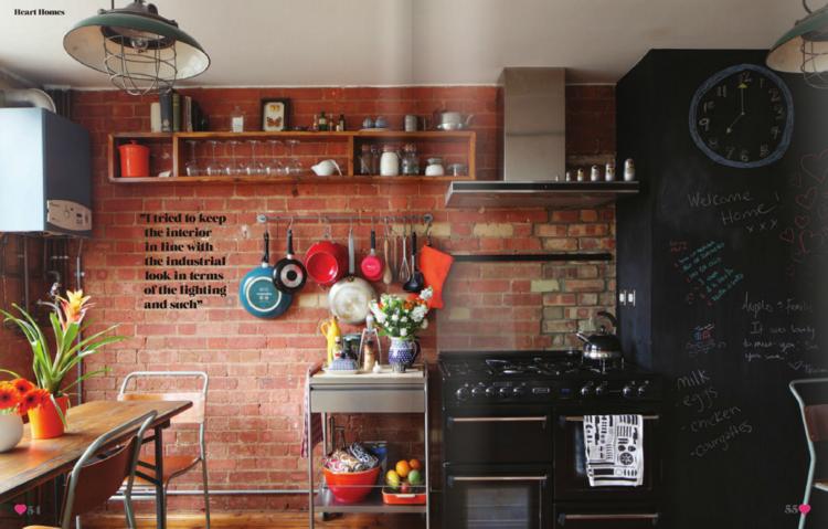 Dise os cocinas peque as modernas cincuenta modelos for Muebles de cocina estilo brocante