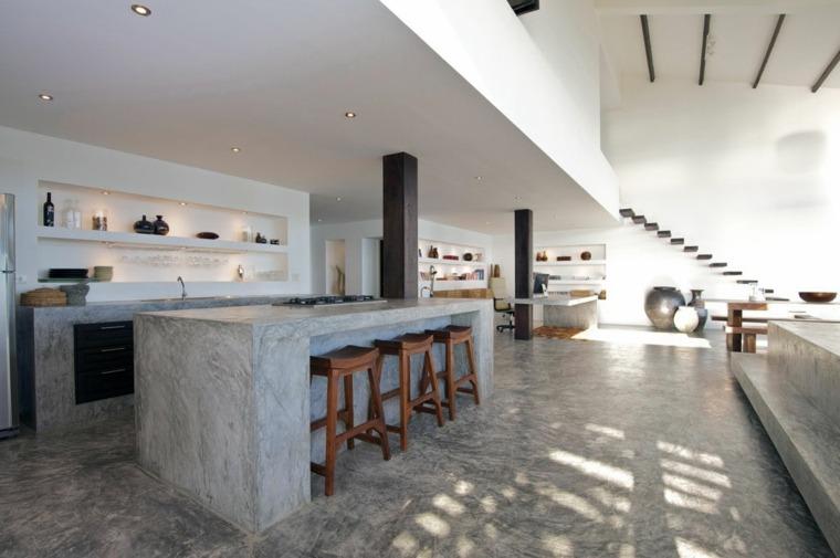 Encimeras de cocina de materiales innovadores 50 modelos for Cocinas de concreto modernas