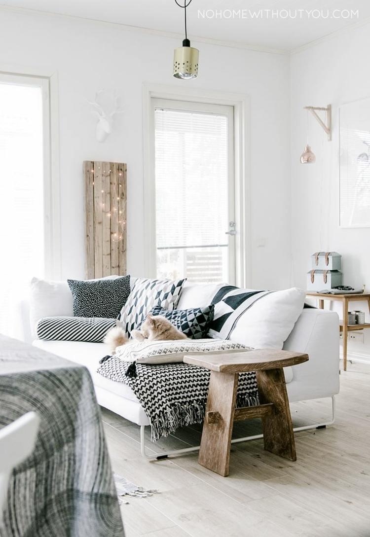 diseño decoración blanco madera