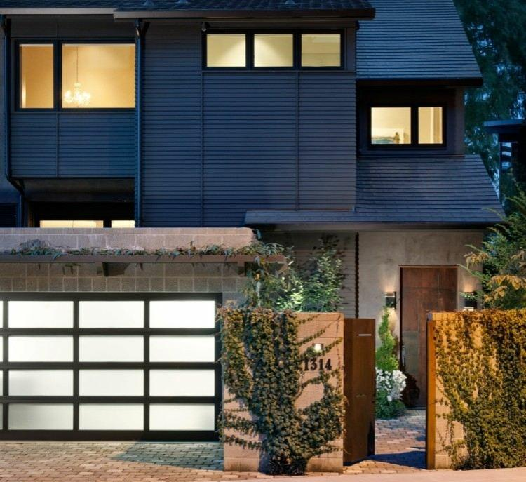 diseño entrada jardin estilo minimalista
