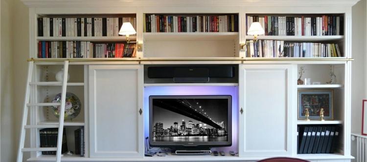diseño mueble estantes luces led