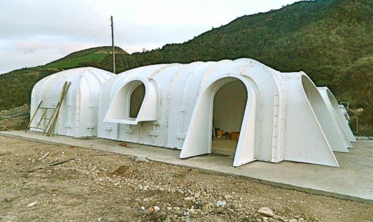 diseño iglues casa enterrada verde