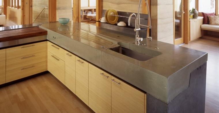 Encimeras de cocina de materiales innovadores 50 modelos for Mejor material para encimeras de cocina