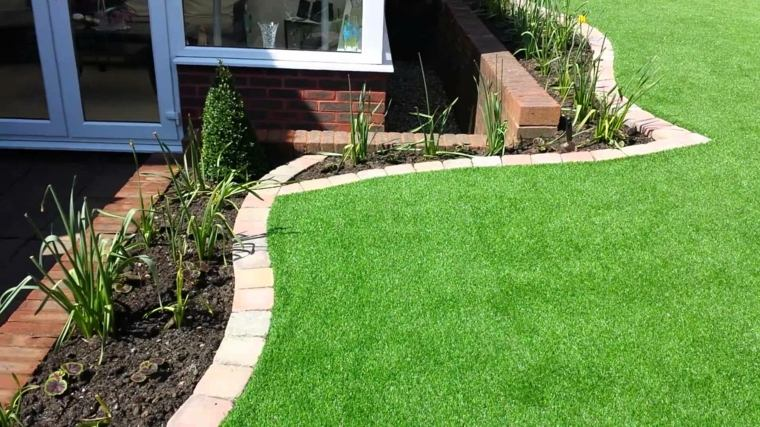 diseño jardin paisaje hierba artificial