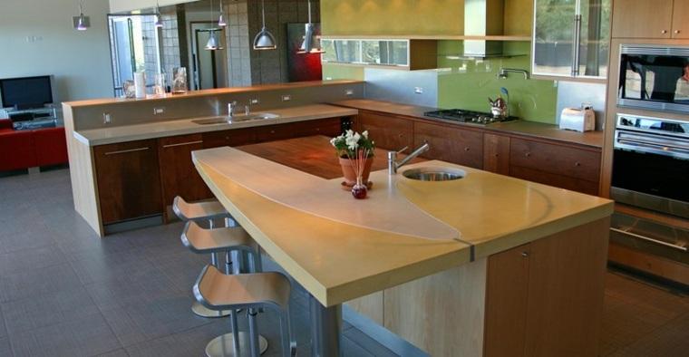diseño moderno superficies cocina encimeras
