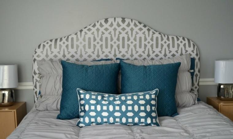 diseño cabecero tapizado casero