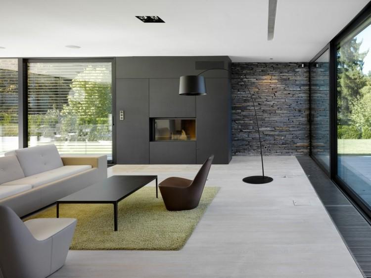 diseño moderno decoración salón gris