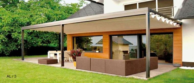 imagens jardins modernos : imagens jardins modernos:Porches jardin y terrazas cubiertas – 50 diseños excepcionales -