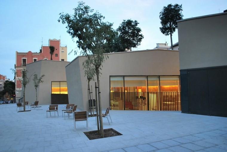 diseño estilo moderno terraza fachada