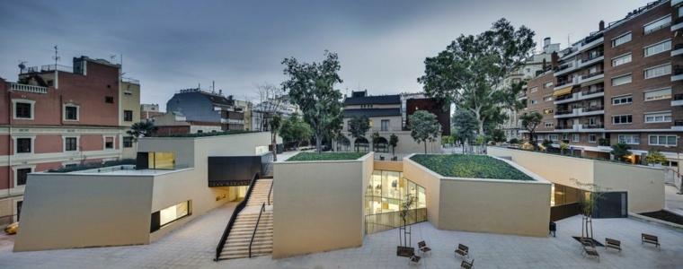 diseño moderno terraza cubierta vegetal