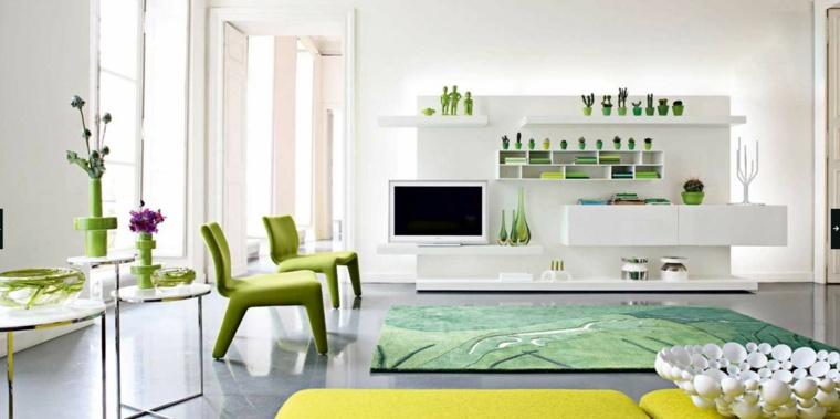 diseño original muebles verdes deco