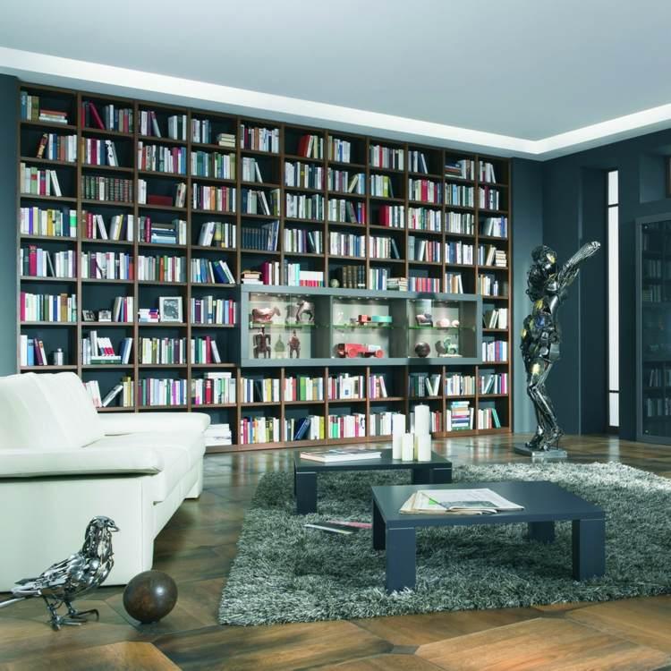 diseño original biblioteca sala moderna