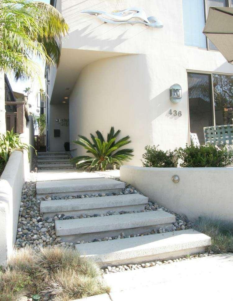 diseño original entrada casa moderna