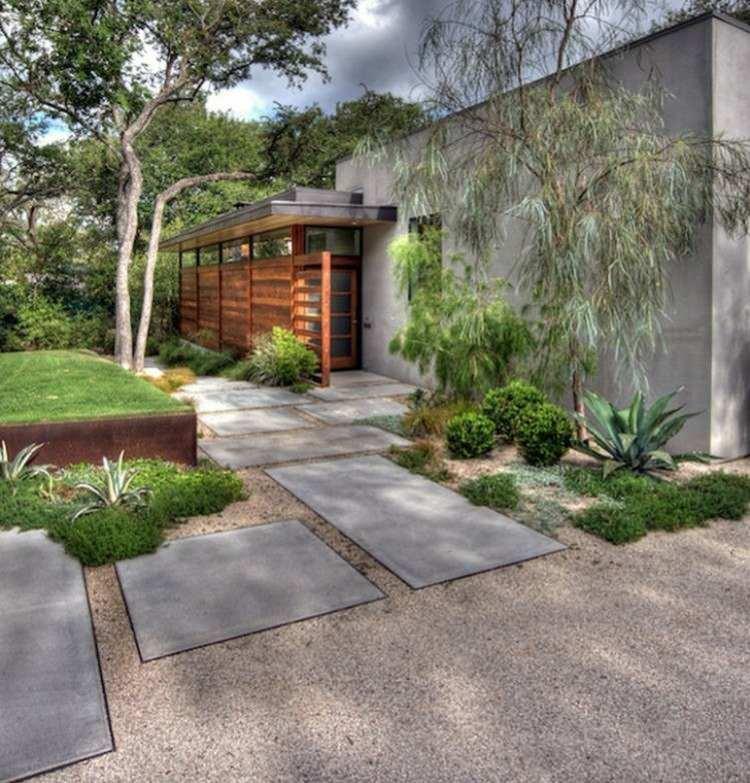 diseño original fachada minimalista moderna