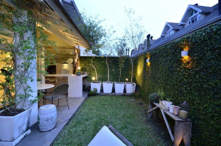 diseño porche moderno patio pequeño