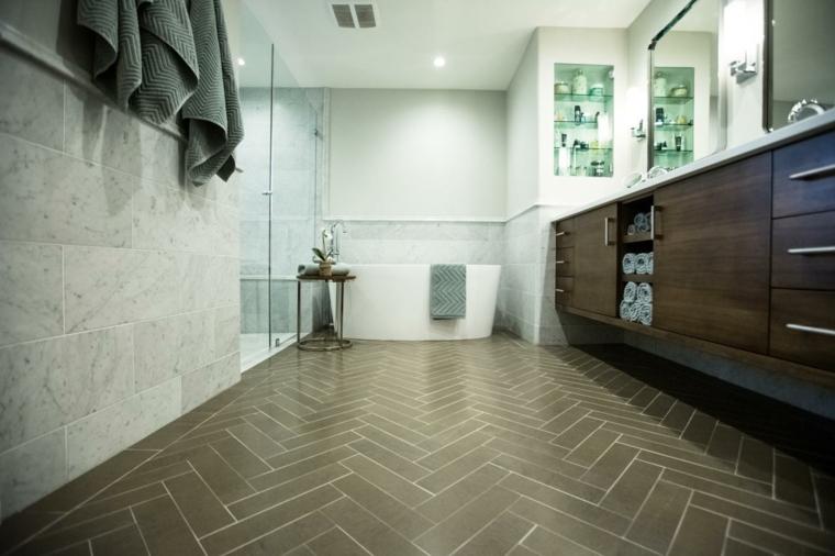 diseño revestimiento suelo cuarto baño