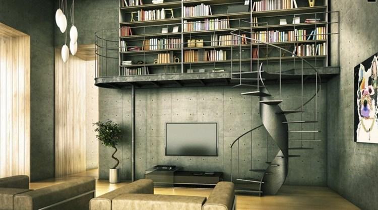 diseño salon industrial libreria