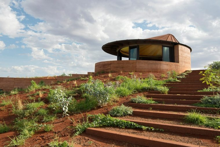 modern terrace design green areas