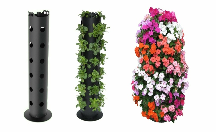 diseño tubos jardinera vertical