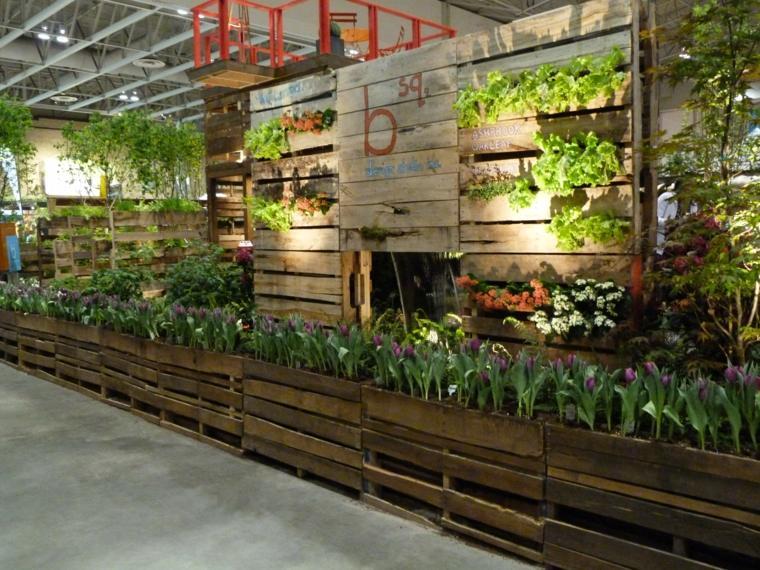 Jardineras verticales ideas sencillas para colgar plantas for Jardin colgante palet