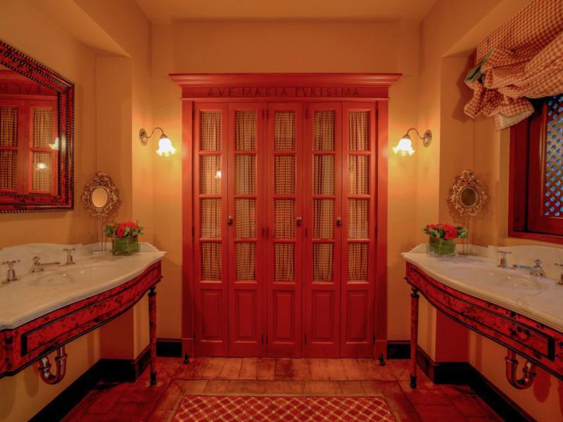 diseño cuarto baño mueble retro