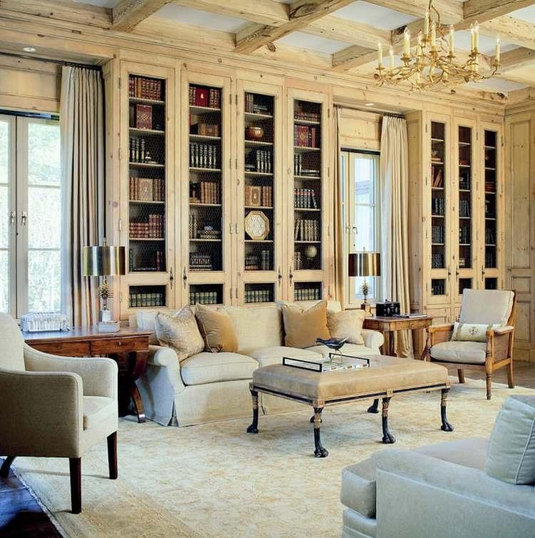 diseño biblioteca salón integrada lujosa