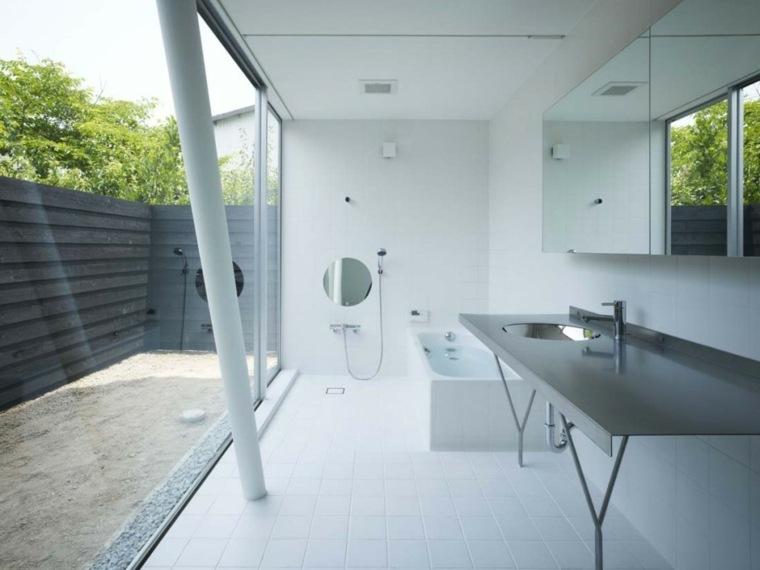 diseños cuartos baños minimalistas