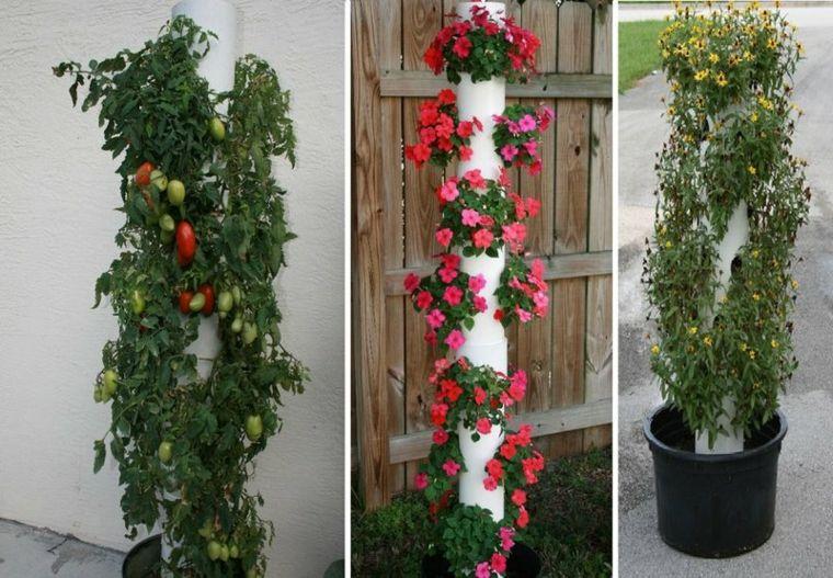 diseños macetas columnas plantas