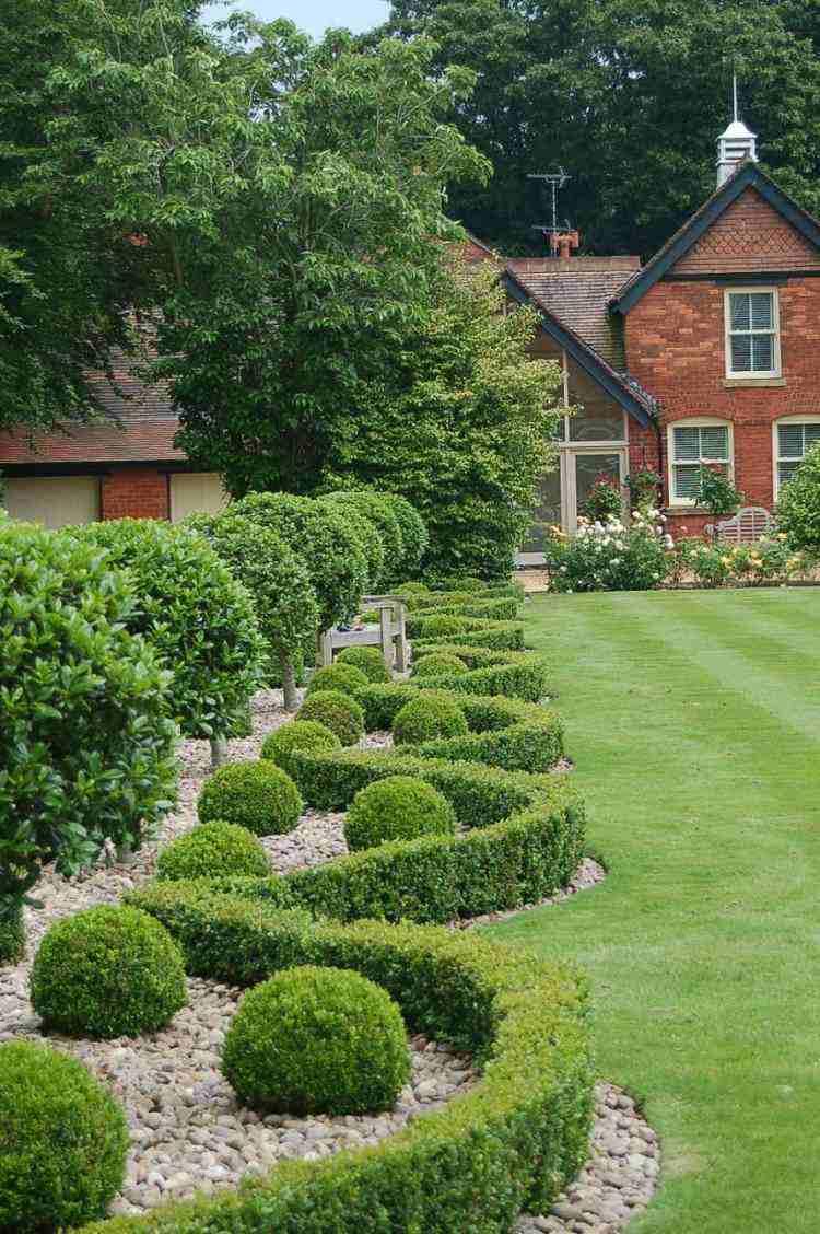 diseños modernos paisajes jardin plantas