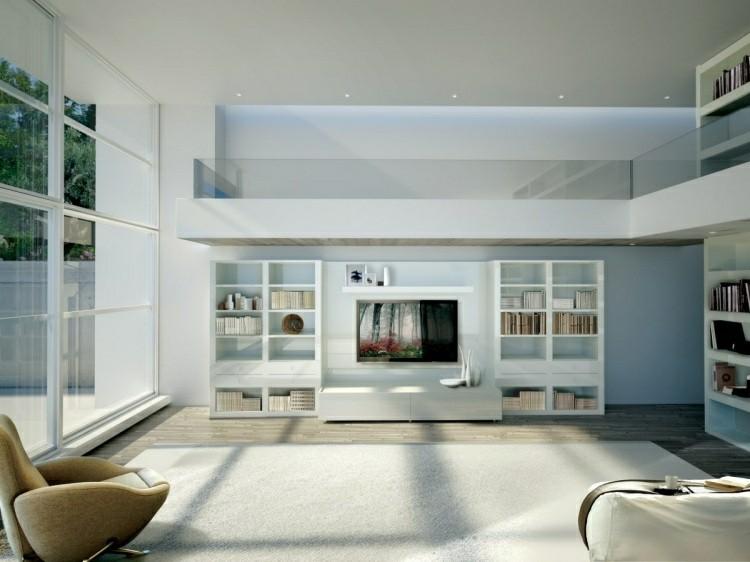 diseños originales estanterias blancas modernas