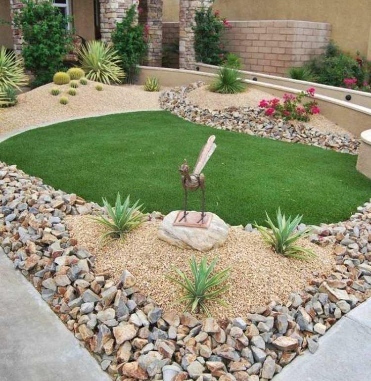 diseños originales jardines modernos gravilla