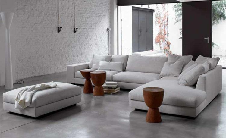 diseños salones grises estilo moderno