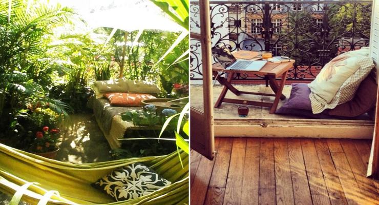 Balcones y terrazas peque as cincuenta ideas para decorar for Disenos de terrazas pequenas