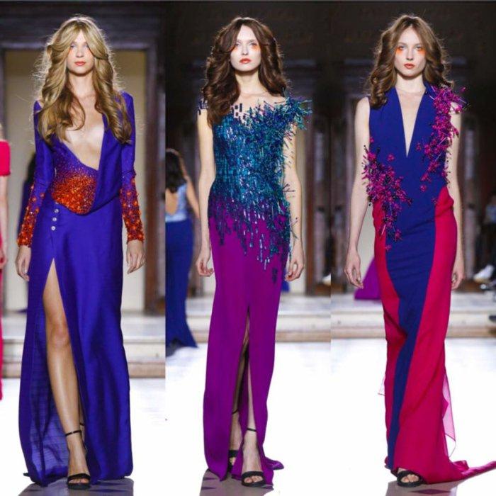 diseños vestidos noche 2016 colores