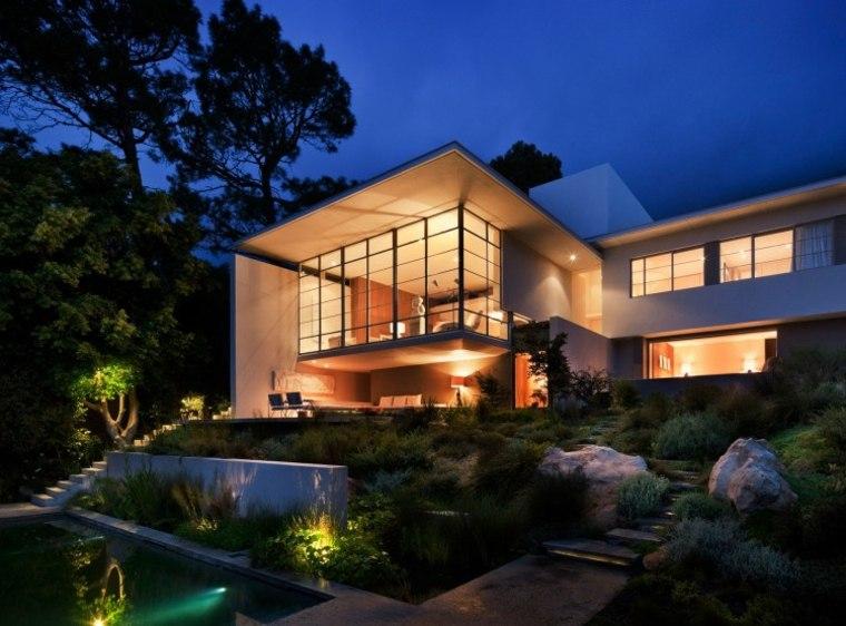 diseño de jardines terrazas casa moderna preciosa ideas