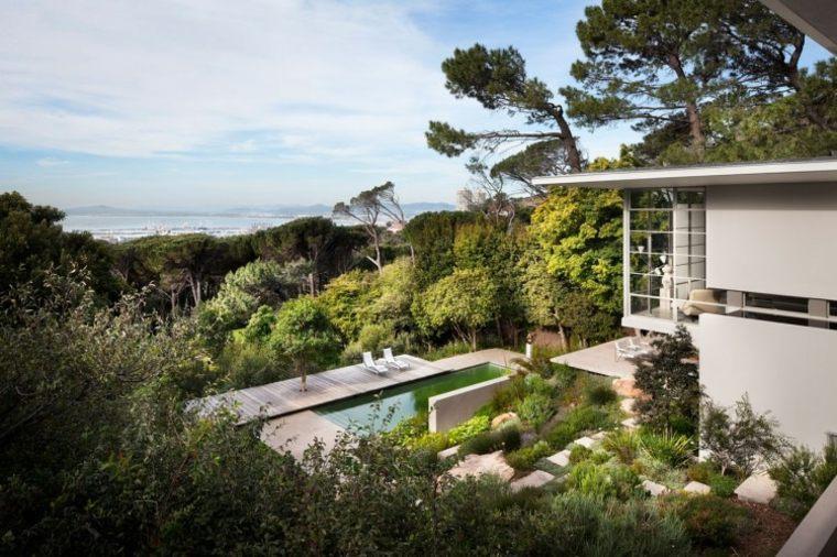 diseño de jardines terrazas casa vistas ideas