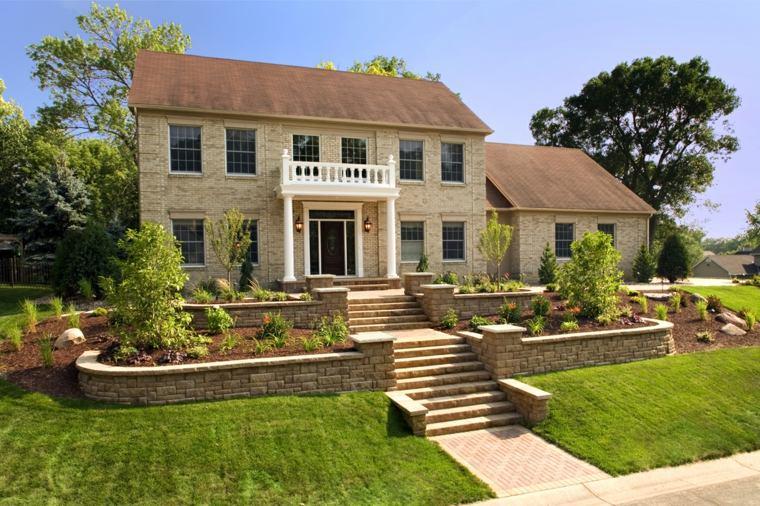 Dise o de jardines 100 ideas de terrazas en el jard n for Escaleras para caminar fuera del jardin