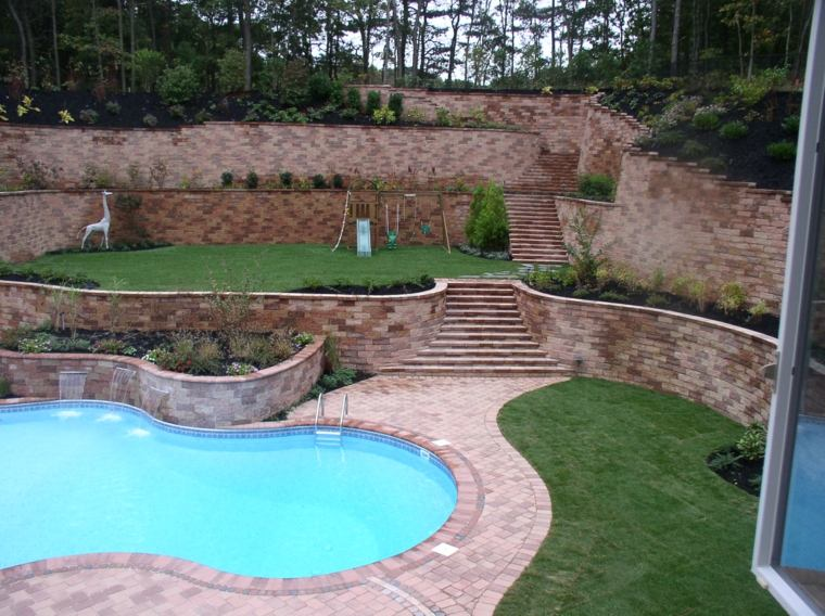 diseño de jardines terrazas diseno informal ideas