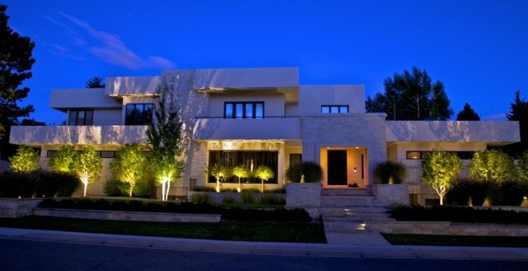 diseno jardines terrazas entrada iluminada ideas