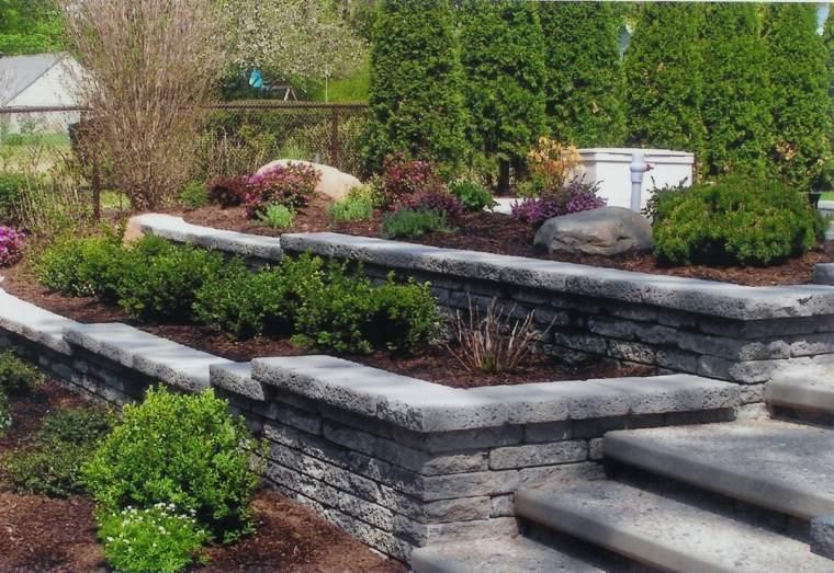 diseno jardines terrazas escaleras murallas ideas